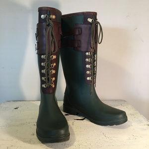 Tory Burch Green Rainboots